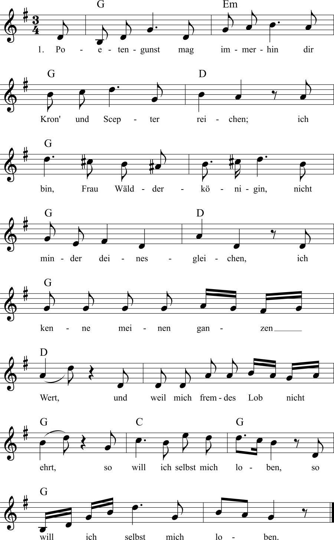 Musiknoten zum Lied Die Buche